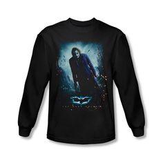 Batman Dark Knight Joker Poster Mens Long Sleeve T-Shirt