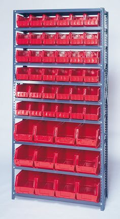 H Giant Hopper Shelf Storage System with Various Bins (Complete Package) Car Storage, Garage Storage, Tool Storage, Storage Shelves, Garage Workshop Organization, Workshop Storage, Wood Workshop, Milwaukee Tool Box, Warehouse Design