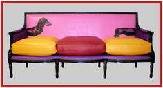 Dachshund popart sofa = fun I need this:)