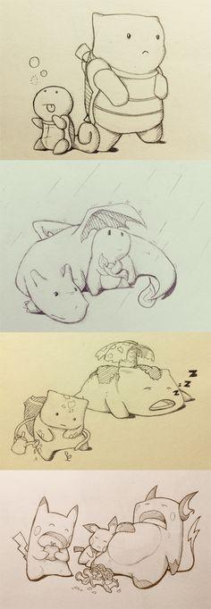 squirtle, blastoise, charizard, charmander, venusaur, bulbasaur, pokemon