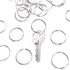 "1"" (25mm) Nickel Plated Silver Steel Round Edged Split Circular Keychain Ring Clips for Car Home Keys Organization, Arts  #ArtsCraftsSewing"