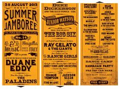 PROGRAMMA ... Summer Jamboree 2013 ... in the rockin town of Senigallia (Italy) ... Official Event Poster