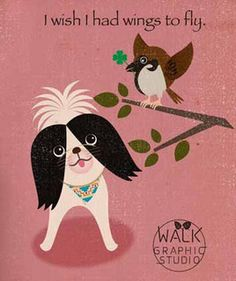 Japanese chin & sparrow