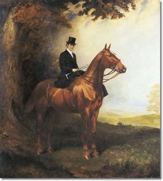 James Lynwood Palmer - Equestrian Portrait Marie Frances Lisette - Approximate Original Size - 45x49 Painting