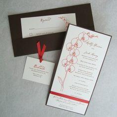 orchid invitations