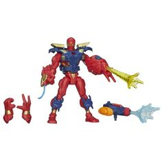 Marvel Super Hero Mashers Electronic Iron Spider Figure  6 Inches >>> Want to know more, click on the image.