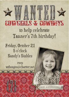 Tanner's cowgirl party Ocrober 2011
