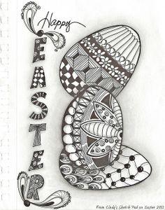 Easter~zentangle