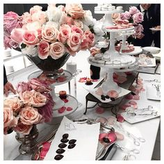 #DessertTablescape Lancôme 80th birthday. July #2015 French and Australian elegance and beauty #lancome80 #langhamsydney