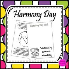 Celebrate cultural diversity with this set of pages. Harmony Day recognises that everyone in our world belongs. Suitable for all year levels and able to be adapted to suit a range of lesson types.Suggestions for use* Create a quilt with students putting a Harmony Day Activities, Primary School Curriculum, Relief Teacher, Lyrics Website, Student Drawing, Cultural Diversity, Event Calendar, Teaching Resources, Grade 3