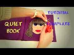 QUIET BOOK tutorial (no sew) + TEMPLATE (Quiet book bez šivanja - proces...