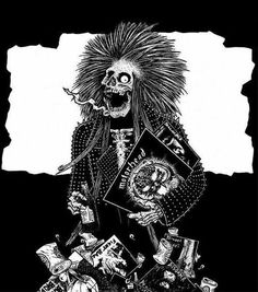 So fukin'cool Crust Punk Draw. Illustration Tumblr, Tapas, Punk Poster, Punk Rock Girls, Crust Punk, Quelques Photos, Lowbrow Art, Punk Goth, Thrash Metal