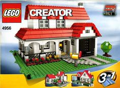 These handy Lego Creator instructions are here to help you with building your LEGO sets. LEGO are childrens toys and are great if you can pick them up in a toy sale! Lego Creator House, Lego Creator Sets, Legos, American Style House, Instructions Lego, Lego Clones, Lego Club, Free Lego, Buy Lego