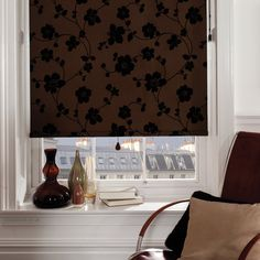 Stunning Made to Measure Roller Blinds @ TRADE PRICES Direct to the Public. Choose from luxury blackout, plain and patterned roller blinds. Fabric Blinds, Curtains With Blinds, Bedroom Curtains, House Blinds, Blinds For Windows, Roller Blinds Design, Decorative Curtain Rods, Luxury Curtains, Blackout Blinds
