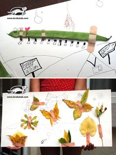 Autumn decoration with imagination and plaster :)