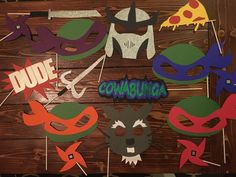 Ninja Turtle Photo Booth Props by WithGraceEvents on Etsy