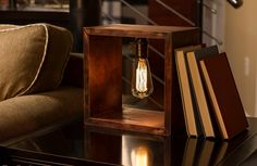 Excellent Edison Bulb Light Fixtures Brown Side Table Brown Living Room Sofa Reading Table