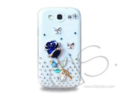 Rhinestone Series Samsung Galaxy S3 Crystal Cases i9300 - Rose Blue    http://www.dsstyles.com/samsung-galaxy-s3-cases/rhinestone-series-samsung-galaxy-s3-crystal-cases-i9300-rose-blue.html?Src=pinterest