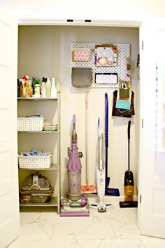 Laundry/mud room closet  that organizes all the things! from Thrifty Decor Chick