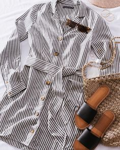 """6e3d6287c0 Abercrombie & Fitch on Instagram: """"On pinstripes and needles waiting  for warmer weather. Flowy Dress CasualCasual DressesLong ..."""