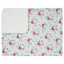 Buy Cath Kidston Clifton Rose Pram Baby Blanket, Blue Online at johnlewis.com
