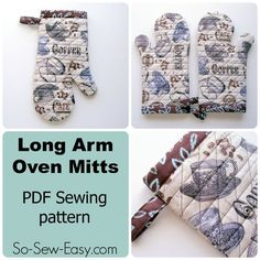 Long Arm Oven Mitts pattern - So Sew Easy