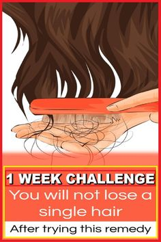 1 Week Challenge – Do This Treatment For 1 Week And You'll Not Lose A Single Hair haircaretips haircare diyhair hairfall healthyhair hairloss hairlosstips 626141154424241707 Argan Oil For Hair Loss, Best Hair Loss Shampoo, Biotin For Hair Loss, Biotin Hair, Hair Shampoo, Hair Remedies For Growth, Hair Loss Remedies, Healthy Hair Remedies, Natural Remedies