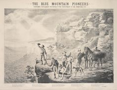 Detail from The Blue Mountains Pioneers, Sydney Mail, Christmas Supplement, 1880  Engraving. DL X8/1-3  from the collection of the State Library of NSW www.sl.nsw.gov.au