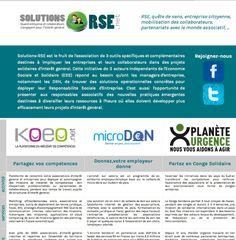 """A l'initiative de KOEO, création du portail solutions-rse.net, rejoint par nos amis de microDON et de Planète Urgence, pour présenter des solutions """"RSE"""" opérationnelles en entreprise, notamment au travers de workshops informatifs réguliers - 2012"""