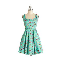 ModCloth Fruits Short Tank top (2 thick straps) A-line Very Charming Dress