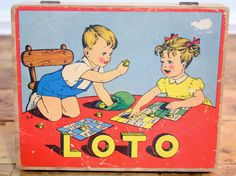 Charming fun French vintage Loto children's