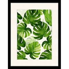 Monstera Leaves Canvas Wall Art