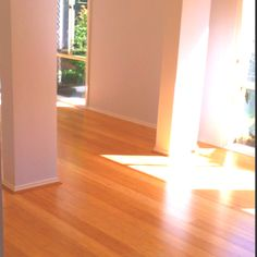 Our new bamboo floorboards!