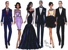 The Obamas over the years