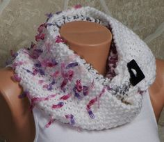 New Autumn. WHITE Cowl Scarf. Loop scarf. Fashion by ozlemdesign, $36.90