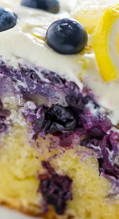 Lemon Blueberry Bundt Cake with Cream Cheese Frosting