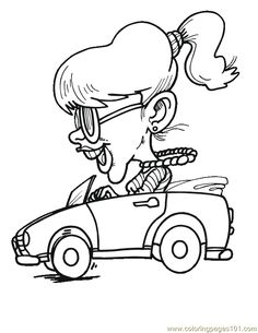 Girl Happy Driving Car Auf coloringpages101.com http://www.pinterest.com/petnic103/digistamps/
