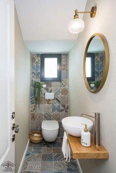 Bathroom Design Luxury, Bathroom Design Small, Modern Bathroom, Home Interior Design, Small Downstairs Toilet, Small Toilet Room, Toilette Design, Beautiful Bathrooms, Bathroom Renovations