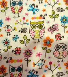 Snuggle Flannel Fabric- Funky Owls & snuggle flannel at Joann.com