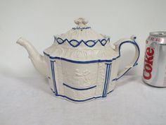 EARLY 19TH C ENGLISH PORCELAIN CASTLEFORD MOULDED CLASSICAL TEAPOT