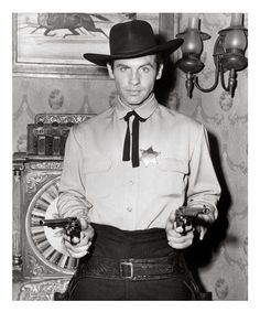 "Tombstone Territory (TV Series 1957 - 1960 )  Tough sheriff Clay Hollister keeps the law in Tombstone, Arizona--""The Town Too Tough to Die""--with the support of his faithful deputies and the editor of the local newspaper."