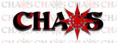 The logo of the Chaos Tattoo Studio in Gastonia, North Carolina.  Nice!