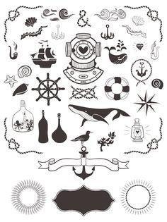 40+ Nautical Vector Elements