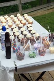 Cupcake bar. Great idea for any party! @H A L E Y | V A N | L I E W Street do you think we could do this or is that pushing it?