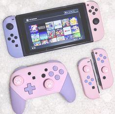 Kawaii Games, Pink Games, Nintendo Switch Case, Nintendo Switch Accessories, Otaku Room, Video Game Rooms, Gaming Room Setup, Kawaii Room, Game Room Design