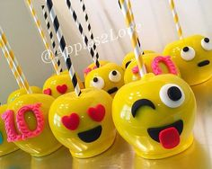 A P L E S T O V On Instagram Adorable Emojis Inspired Candy Apples Happy 10th Birthday Gigis Themedparties