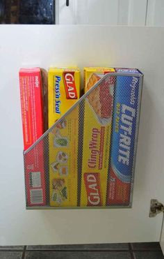 {TIP} Use a Magazine Holder inside the Cabinet for Extra Storage