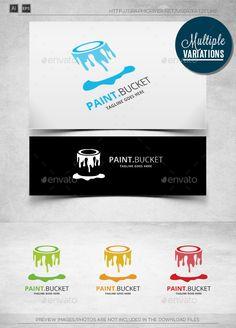 Paint Bucket - Logo Template - Objects Logo Templates-painter,printing, customizable logo - logotype