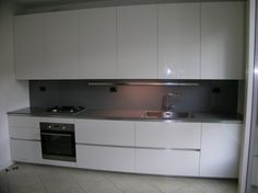 cucina one + Ernestomeda laminato larice bordo alluminio piano ...