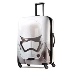 Prepare for your trip to a galaxy far, far away by securing your belongings in this American Tourister Star Wars Spinner 28' Luggage Storm Trooper suitcase.